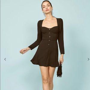 Reformation black Milla dress